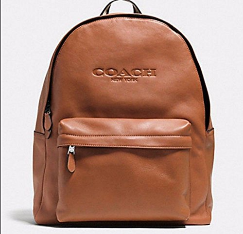 COACH MEN'S Soft Grain LEATHER CAMPUS BACKPACK BAG F72120 Saddle ...
