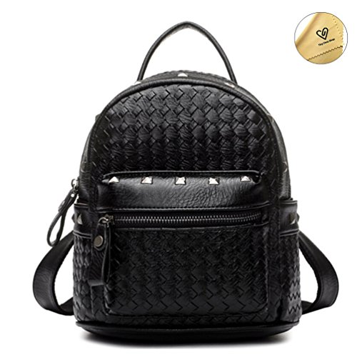 Tiny Chou(TM) Girls Mini Woven Spikes PU Leather Backpacks Cute ...