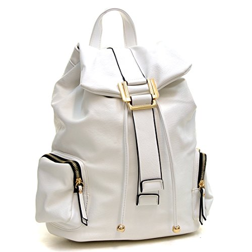 Dasein Faux Leather Convertible Drawstring Fashion Backpack Purse ...