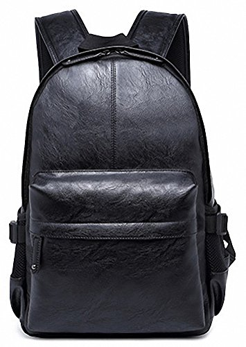 Kenox Vintage PU Leather Backpack For School College Book Bag ...