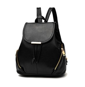 cae4dd367ed Aiseyi Casual Fashion School Leather Backpack Shoulder Bag Backpack for  Women Girls Purse (Black) High quality Soft PU leather with Polyester  lining ...